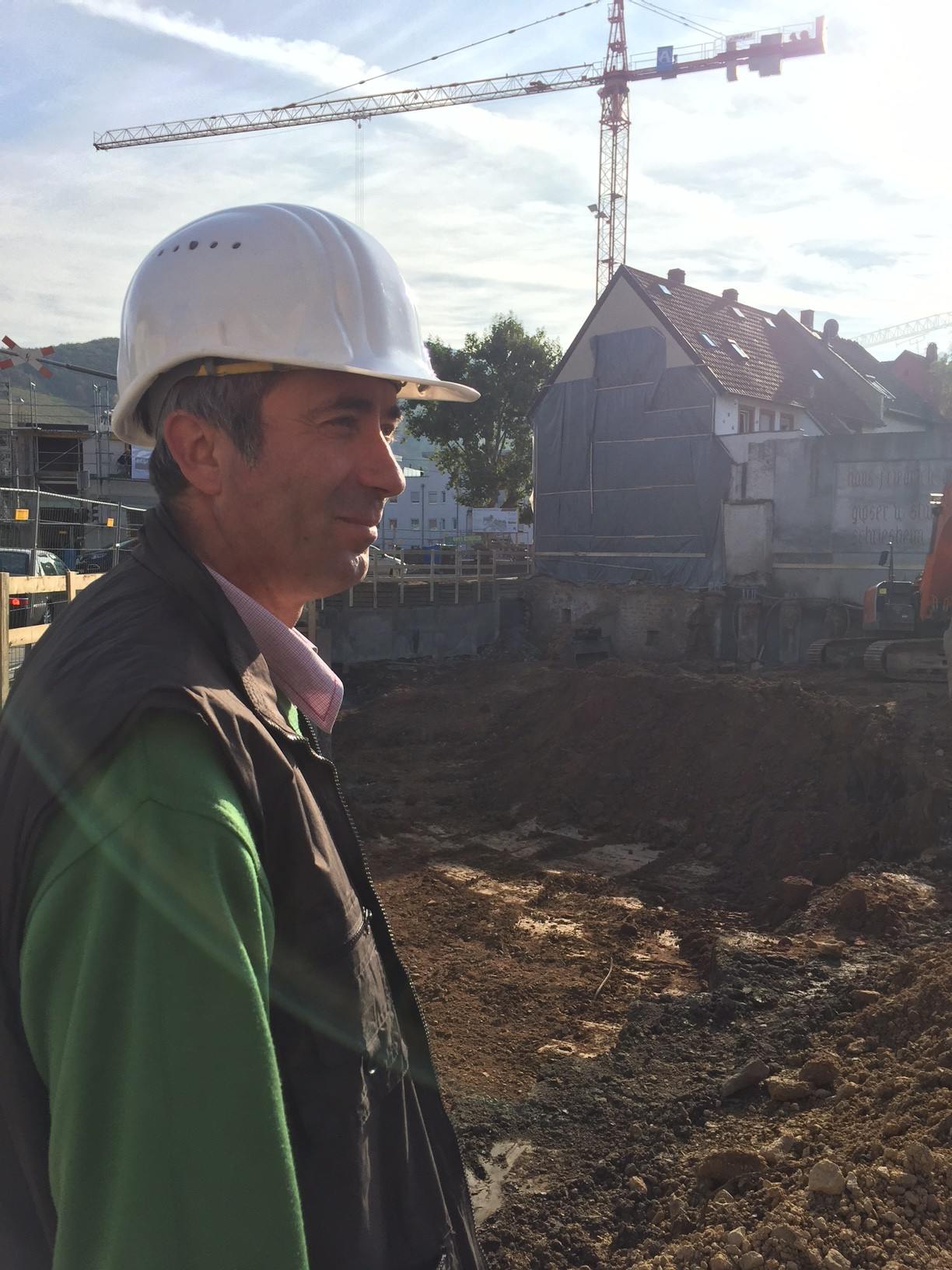 Hat die Baustelle im Griff: Ion Rotario